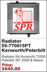 55-7700-15PT KENWORTH T2000 / PETERBILT 387 2009 & NEWER Radiator